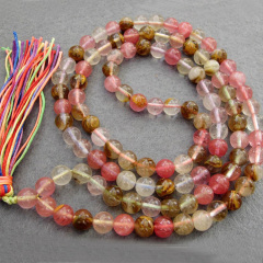NE2008 Fashion cherry quartz beads necklace,cherry quartz beads prayer necklace