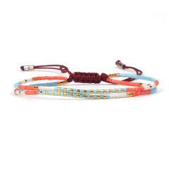 BG1016 Dainty Miyuki Seed Beads Boho Handmade Tiny Beads Adjustable Bracelet