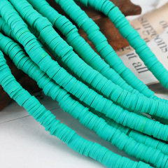 A0037 Popular Turquoise Green Polymer Clay Vinyl Perles Heishi Beads Blue Polymer Clay Disc Spacer Beads