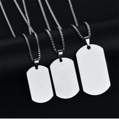 High quality customized logo laser engraved stainless steel dogtags military sublimation wholesale