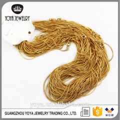 BC1137 High quality fashion gold plated snake necklace chains