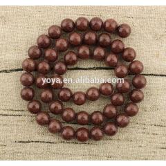 MJ1014 wholesale brown smooth natural Mashan jade round loose beads