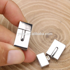3x10mm Silver Square Clasp 304 stainless steel clasps for flat leather bracelet