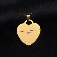 customized logo laser engraved heart shape stainless steel dogtag