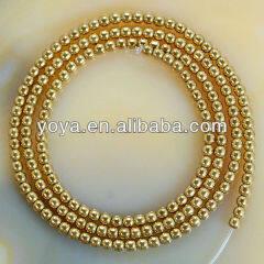 HB3016 2mm round gemstone beads, Gold Golden Hematite Beads