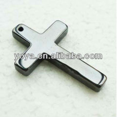 JF2237 Fashion hematite cross Charm pendant