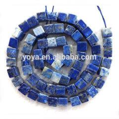LL1021 Natural Lapis lazuli cube beads,lapis lazuli square box beads