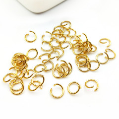 S1159 High Quality 18K Gold Plated Stainless steel Open Jump Rings