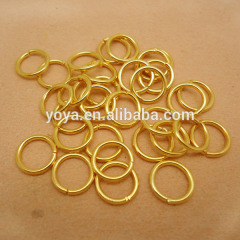 JFR1012 1.2*10mm gold plated jump rings,open brass jump rings,link circle jump-rings