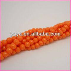 GP0813 Orange plastic beads,fluorecsent neon colour plastic beads
