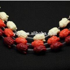 GP0830 Fashion coral colour acrylic plastic resin buddha head beads