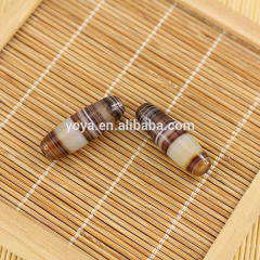 AB0174 Natural madagascar stripe agate barrel drum loose beads