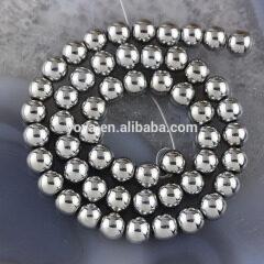 HB3010 Silver Plated Hematite Beads,Silver Hematite Round Beads