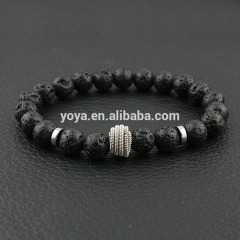 BN10758 fashion natural gemstone beads elastic bracelet for ladies, charm stone bead essential oil women bracelet