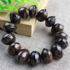 BW1060 Big Wooden Wood Fish Fruit Bracelets Bodhi Beads Bracelets for Men and Women
