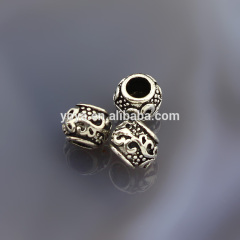 2016 unique 925 sterling sliver charm findings for bracelet, oval spacer beads cap findings,jewelry connectors