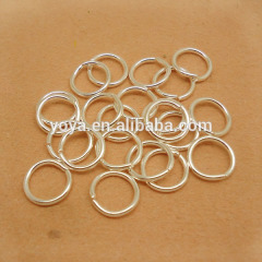 JFR1013 wholesale 10mm silver plated jump rings,open brass jump rings,link circle jump-rings