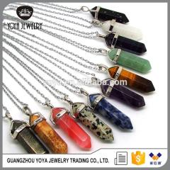 NE2317 Fashion healing crystal point pendant necklace for women