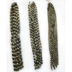 PB1089 Pyrite twisted barrel drum beads,beeads jewelry