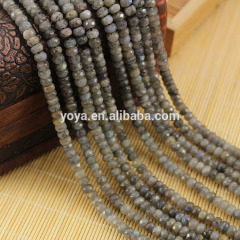 LA5004 Wholesale Faceted Labradorite Rondelle Beads,Labradorite roundelAbacus Beads