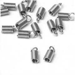 JF0732 Kumihimo Cord End Cap,Leather Crimp End Findings
