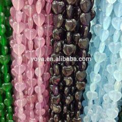 MJ3185 Hotsale Dyed Jade Heart Beads, Stone Heart Shape Beads
