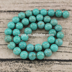 TB0004 Natural Turquoise Round Beads,Howlite Beads,Jewelry making beads