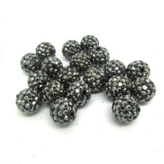 CP5081 PP13 Hematite crystal Clay bling beads