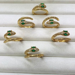 RM1098 2020 New Chic Cute Diamond CZ Micro Pave Snake Rings