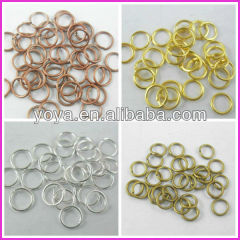 JFR1008 wholesale silver/gold/bronze/copper jump rings,open brass jump rings