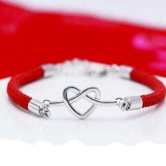 BM1011 brass plated bracelet heart shape rope bracelet for women