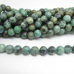 Army Green Round gemstone bead,stone beads