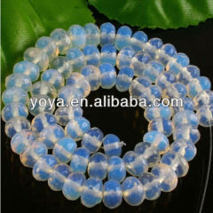OB0834 Faceted Opal opalite rondelle beads, faceted abacus opalite beads