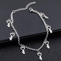 AC1006 Foot Jewelry Chic Dainty Stainless Steel Bear Charm Anklets Bracelet for Women Girls
