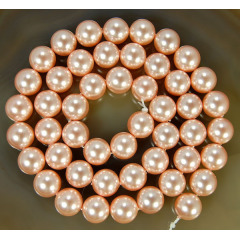 SP4004 4mm 6mm 8mm 10mm 12mm Round Shape Light Pink Shell Pearl Beads