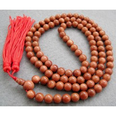 NE2006 Fashion 108pcs Goldstone beads prayer necklace