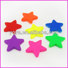 GP0820 Fluorescent Neon Rubber Acrylic Star Beads,Rubber Resin Star Beads