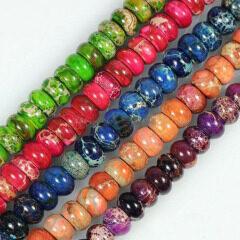 SM3019 imperial jasper abacus beads, sea sediment jasper beads