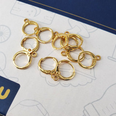 EK1009 Earring Findings 18K Gold Plated Leverback Earring Hooks ,Gold Plated Round Earwires Ear Wires