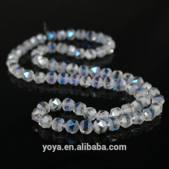 CC1719 Diamond Cut Faceted AB Crystal Glass Nugget Beads
