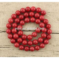 MJ1004 Wholesale red mashan jade beads,red stone beads