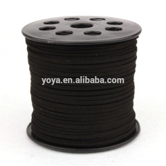 ST1015 Black Suede Leather Cord,Suede Leather Ribbon Cord,Lace Leather Cord