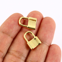 JS1501 High Quality Jewelry Supplies 18K Gold Plated Lock Charm Pendants