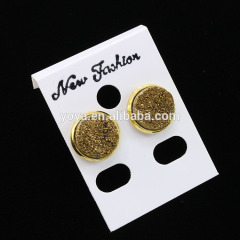 EA3147 Wholesale Gold Druzy Stud Earring