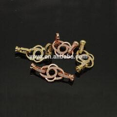 CZ6499 Wholesale cz micro pave flower charm clasps,Cubic zirconia diamond clasp