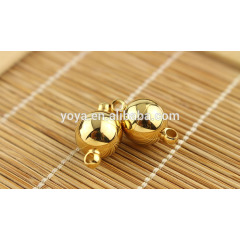 JF1293 8mm 10mm 12mm stainless steel wholesale silver and gold color, Stainless steel round ball magnet magnetic clasps