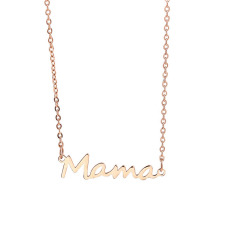 NS1018 HIgh Quality Stainless Steel Mama Mother Gift Necklace,Personalized Name Letter Word Initial Necklace