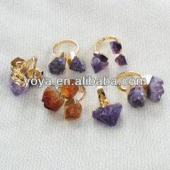 RG1057 Fashion Amethyst Druzy Ring