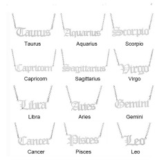 NS1060 YOYA Star Constell IP Gold Plated Stainless Steel Horoscope Zodiac Sign Pendant Necklace