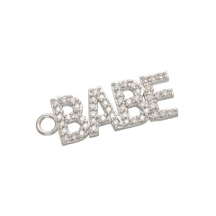 CZ8111 New Dainty Diamond CZ Micro Pave Letter Words Babe Charms